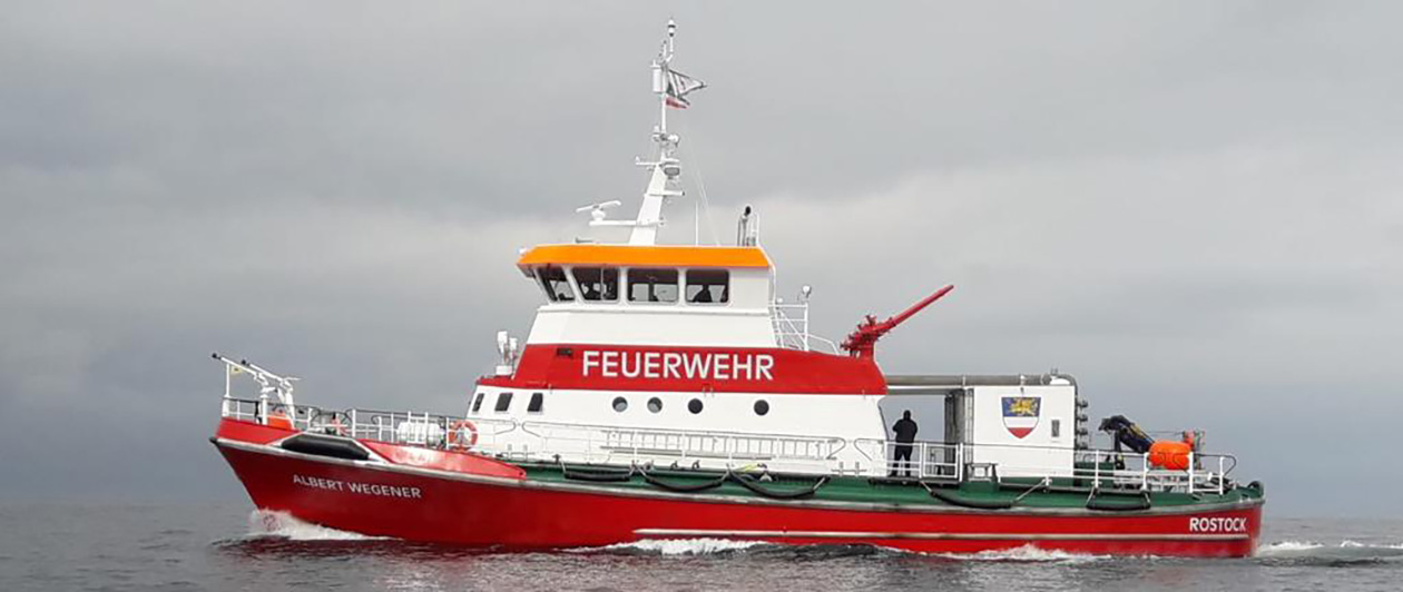 The Albert Wegener fireboat
